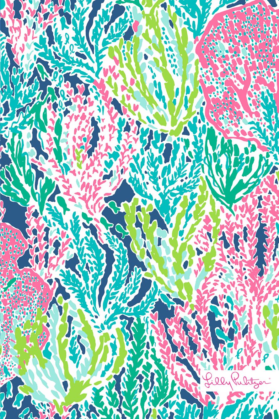 Fall Southern Prep Wallpapers Dark Blue Coral Reef Lilly Pulitzer Pinterest Coral