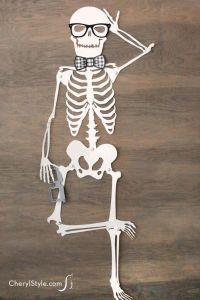 Printable skeleton instructions   Recipe   Card stock ...