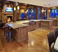 Mullet Cabinet - Large rustic timber frame kitchen with ...