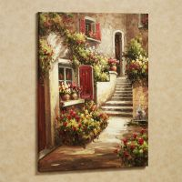 Tuscan Flowers Canvas Wall Art | Flower canvas, Kitchen ...