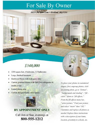 Modern flyer - for sale by owner Free Flyer Templates Microsoft - house flyer template
