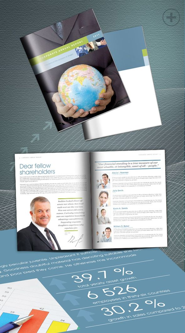 Free InDesign Annual Report template Interesting Pinterest - free annual report templates