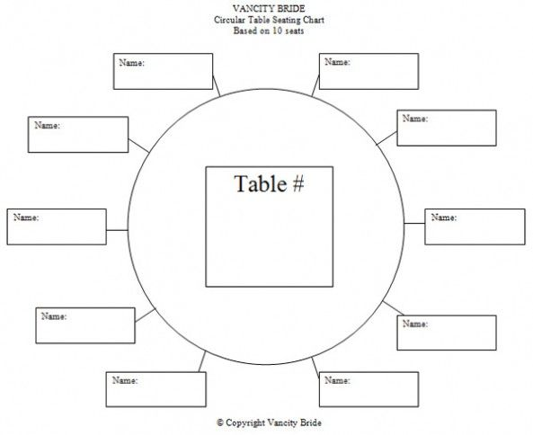 Free Individual Table Seating Charts Wedding Ideas Pinterest - blank comparison chart template