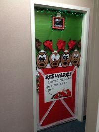 Christmas reindeer door decoration | Holidays | Pinterest ...