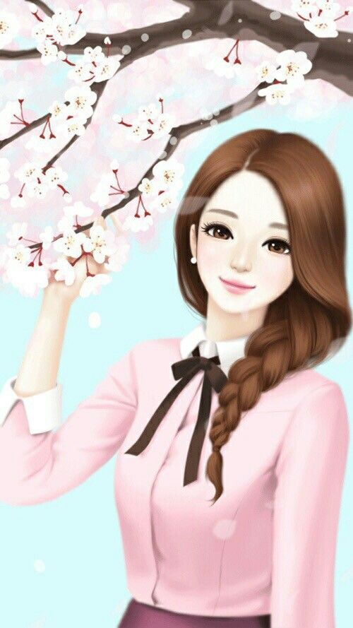 Mobile9 Cute Wallpapers Beautiful Girl Cartoon Wallpaper Www Pixshark Com