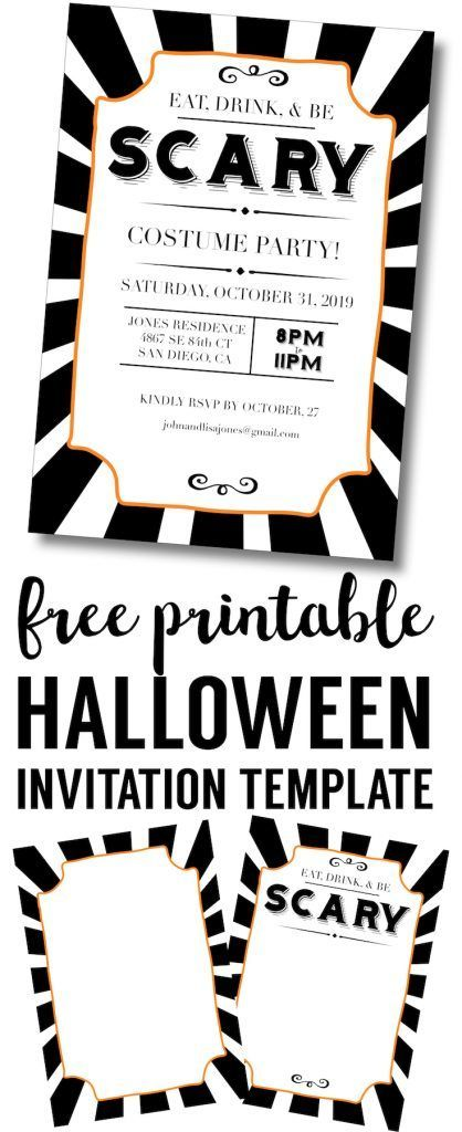 Free Halloween Party Invitation Printables , Angry Phantom, Free - halloween invitation template