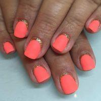 35 Bright Summer Nail Designs | Matte nails, Gold and ...
