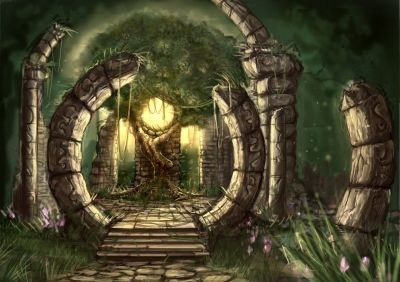 deviantART: More Like Druid temple ruins by Phantagram | The Wells of the Worlds (locations ...
