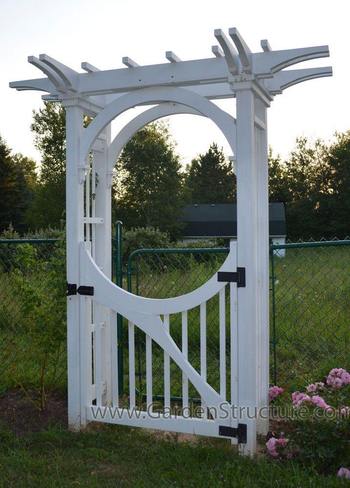 A Garden Arbor with Inner Arch Bracing and Custom Gate Arbor - garden arbor plans designs