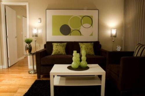 dark+brown+and+lime+green+living+room+wall+ideas brown living - living room ideas brown sofa