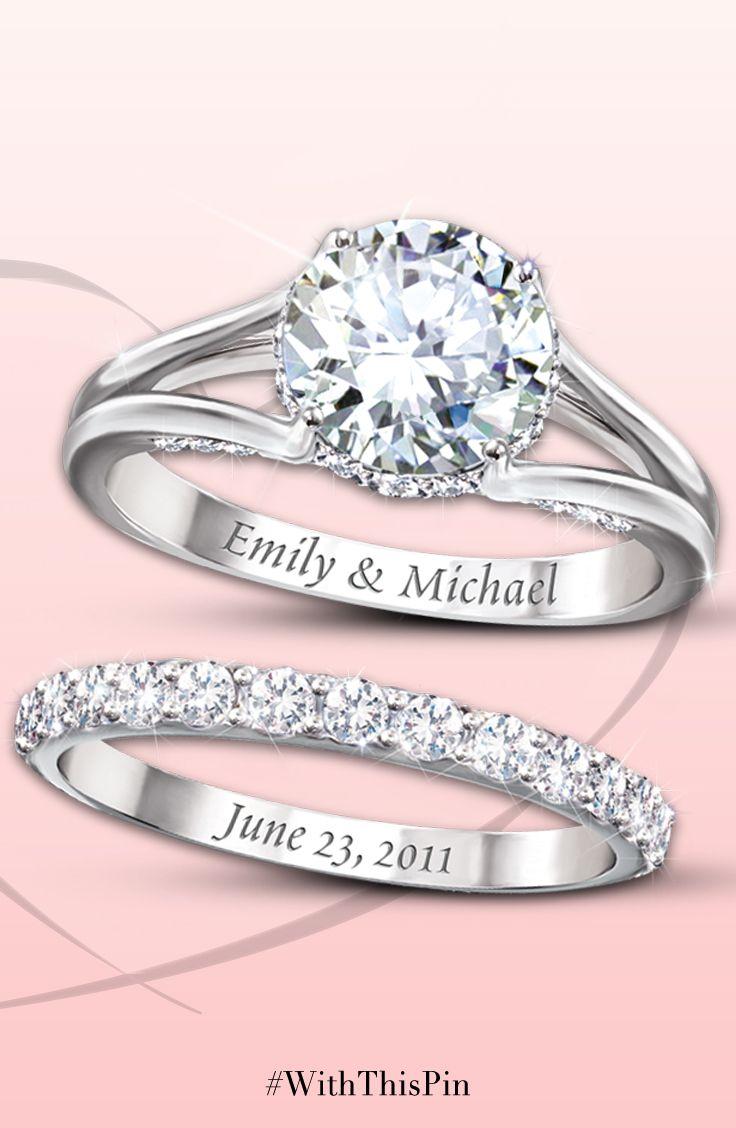 name engraved wedding rings - Customized Wedding Rings