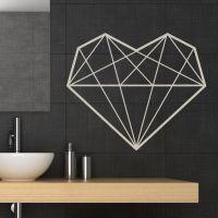 Geometric heart wall sticker decal    Pinteres