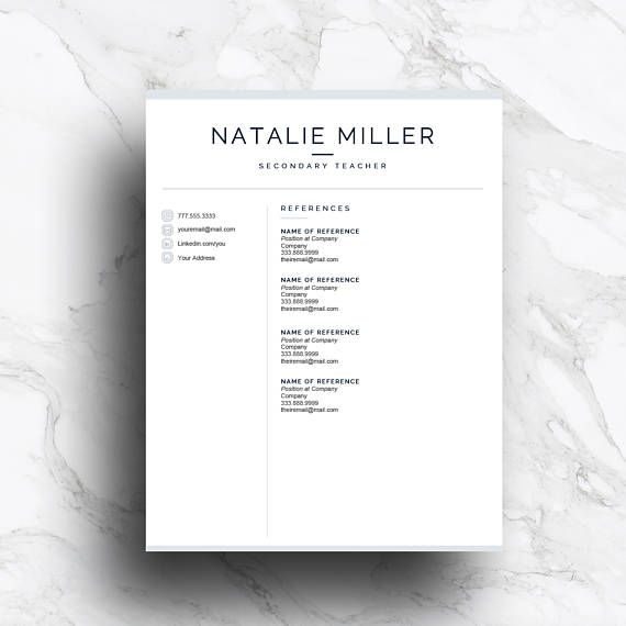 reference page of resume resume template no1 cover letter