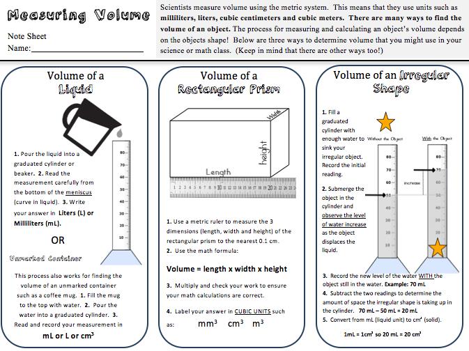 Kates Classroom Cafe: Volume Practice Freebie