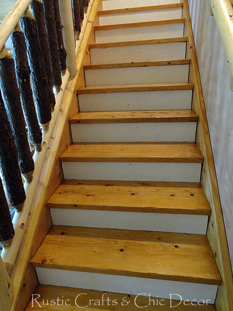 Painting And Staining Stairs Rustic Crafts Chic Decor