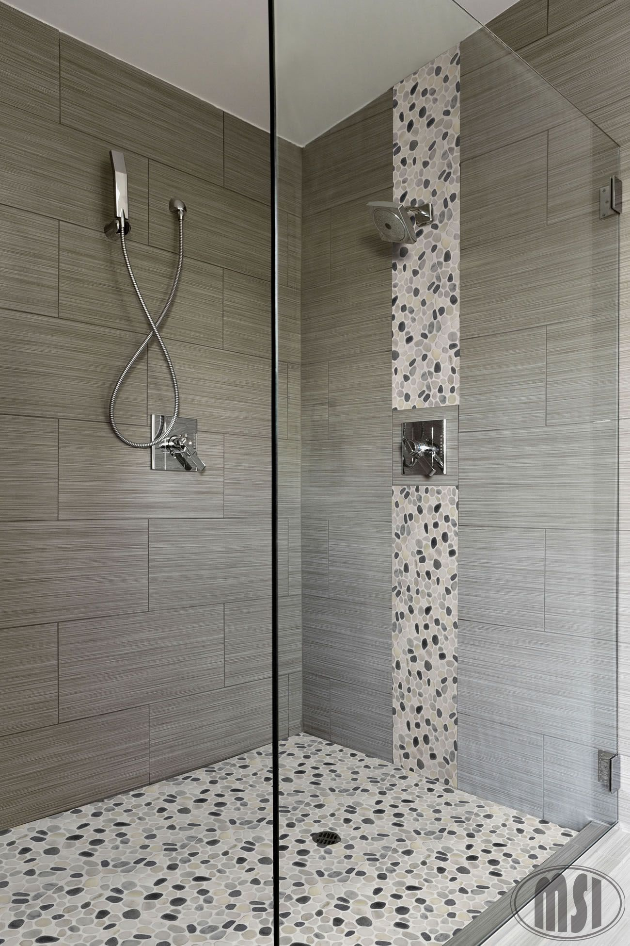 Waterfall Showers Designs Love The Pebble Glass Waterfall Vertical Design And The