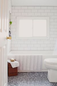 Mosaic bathroom floor from penny tiles - Home Decorating ...