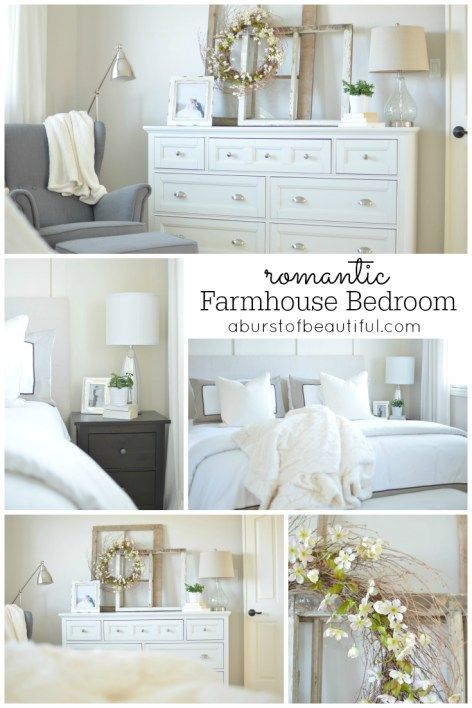Romantic Farmhouse Bedroom Romantic, Bedrooms and Master bedroom - farmhouse bedroom ideas