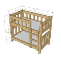 Ana White | Build a Camp Style Bunk Beds for American Girl ...