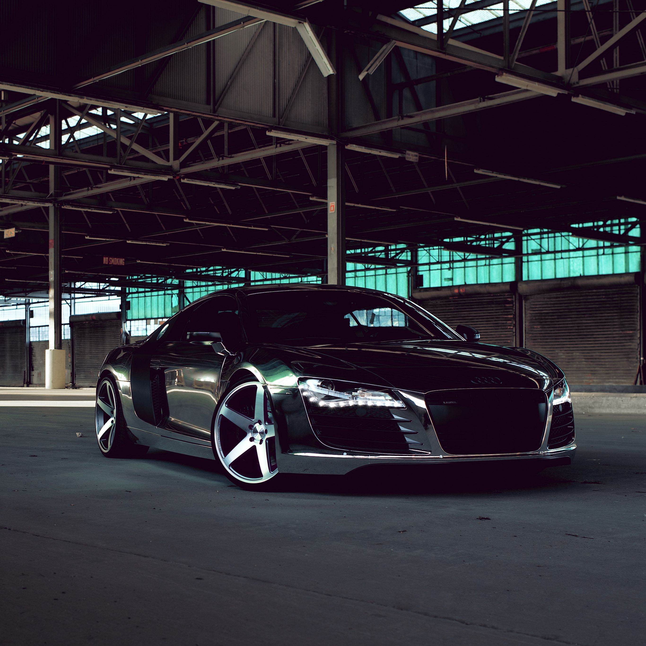 1440x2560 Suhd Wallpaper Fall Audi R8 Chrome Cw 5 Matte Black Side View Ipad Pro
