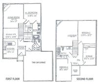 3 bedrooms floor plans 2 story | ... bdrm basement the two ...