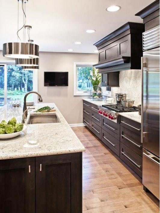 Küche   Dunkles Holz; Helle Arbeitsplatte Küche Pinterest   Designer  Schranke Holz Keramik