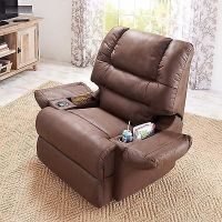 New Brown Rocker Recliner Cup Holder Lazy Chair Seat ...