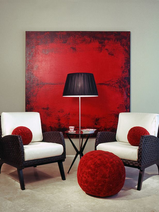 100+ Best Red Living Rooms Interior Design Ideas Vignettes - red living room chair