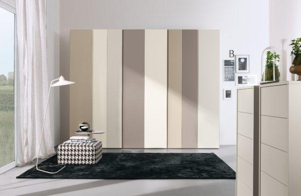 Schlafzimmer Einrichtungsideen-Beige-Weiß Cremeweiß-Streifen - schlafzimmer creme wei