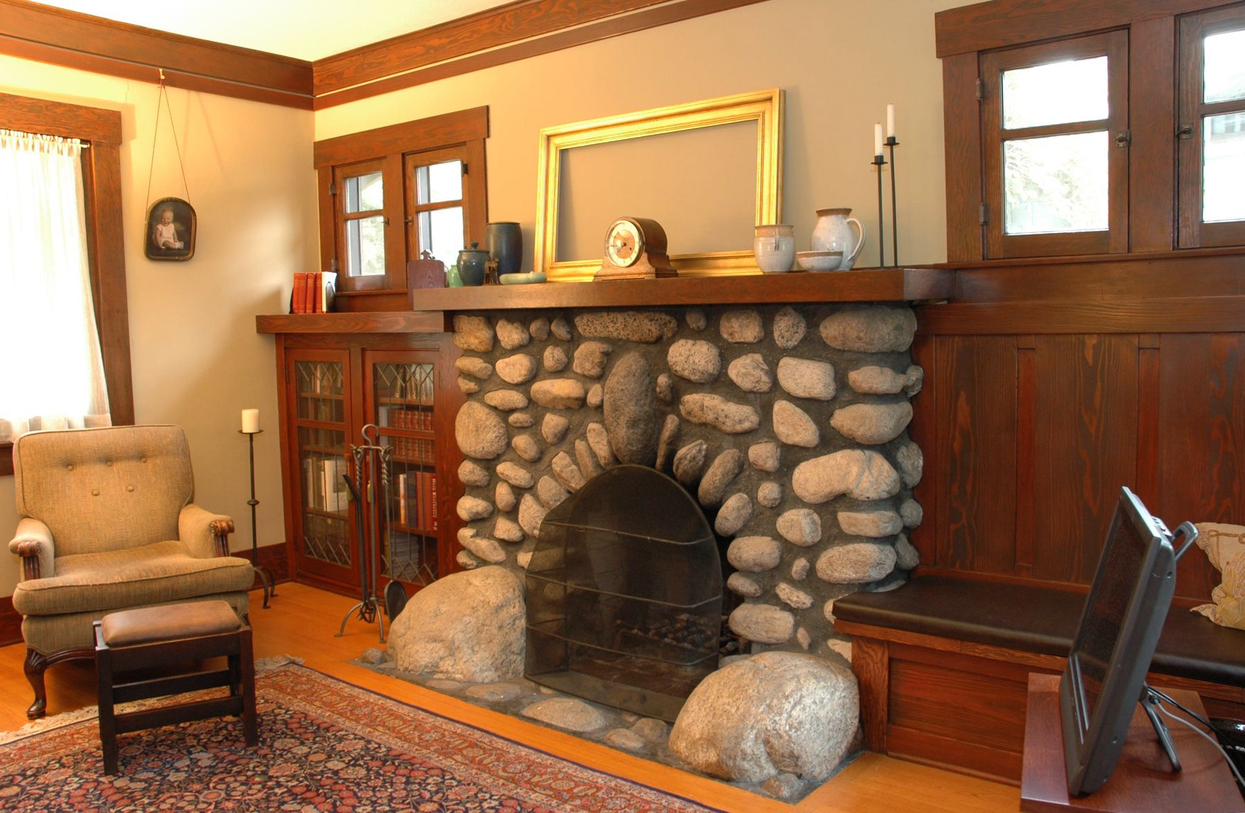 Bungalow Fireplace Mantel 1920s Craftsman Bungalow Pasadena Home Tours Greene