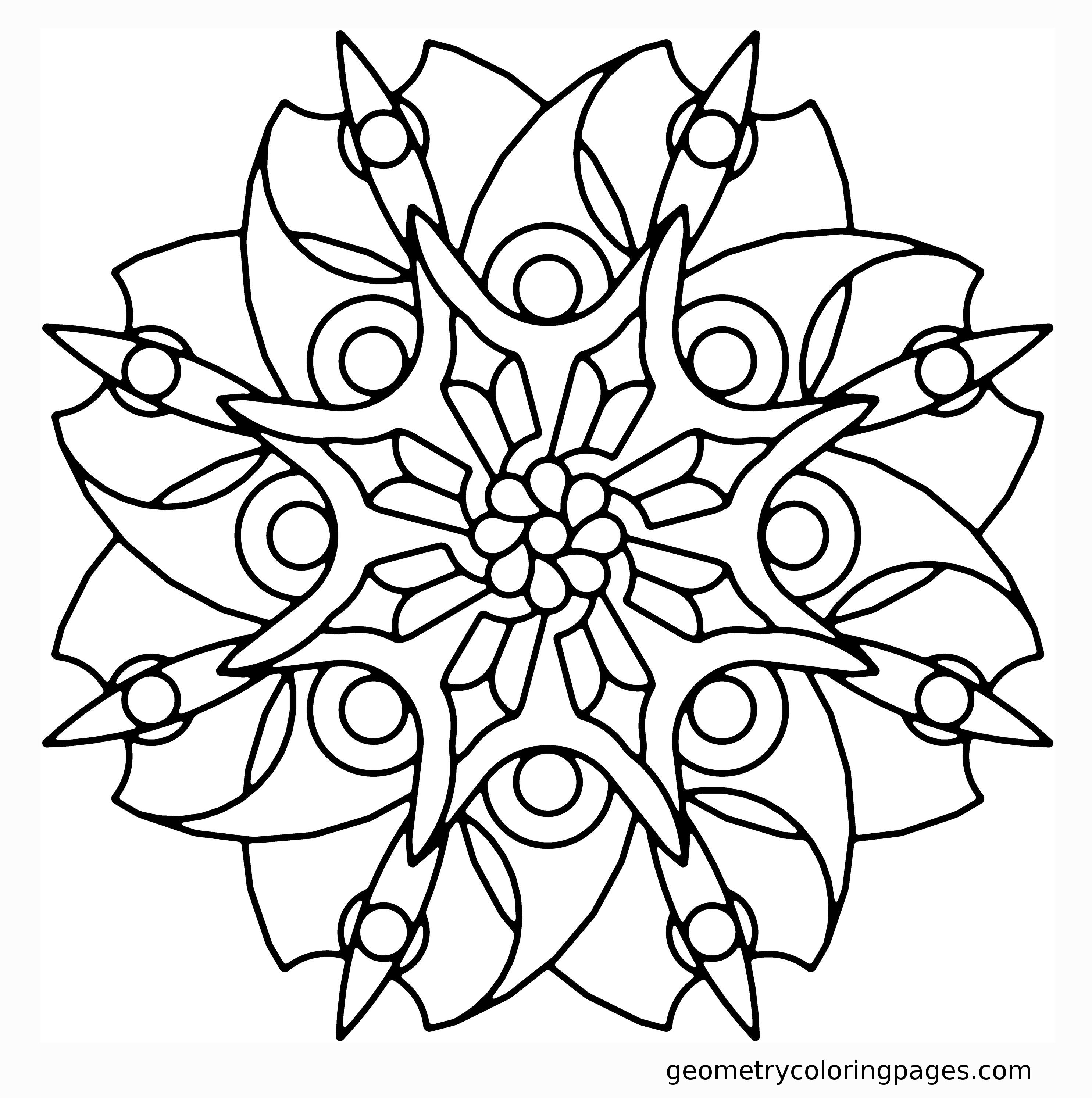 Geometry coloring page blade flower