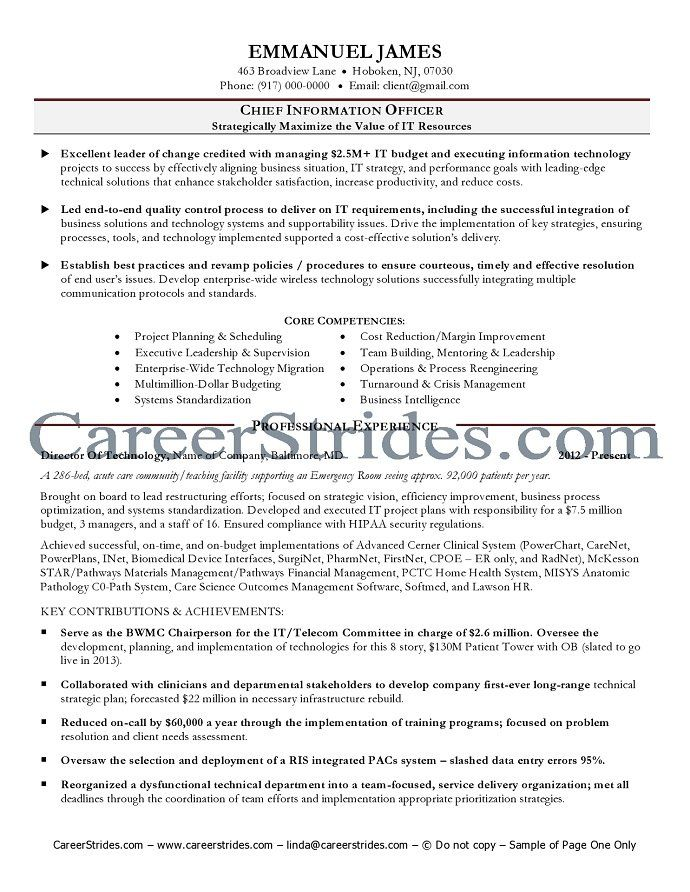 Clinical Leader Cover Letter