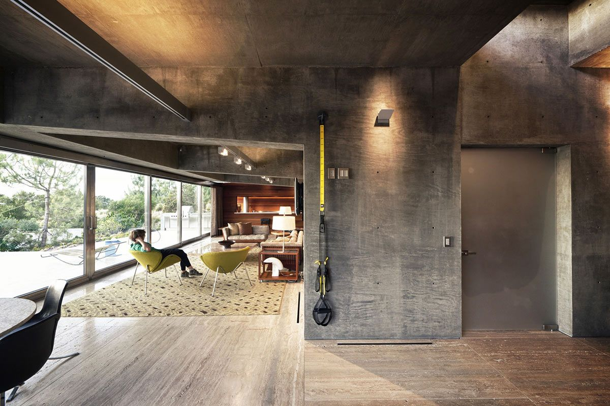 Concrete House Interior Extraordinary Contemporary Home California Living Space