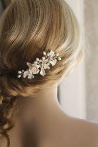 Bridal Hair Pieces Etsy   Fade Haircut