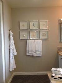Bathroom beach decor ( framing ideas) | Model home ...