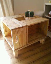Meuble en bois de palette - Table basse : Meubles et ...