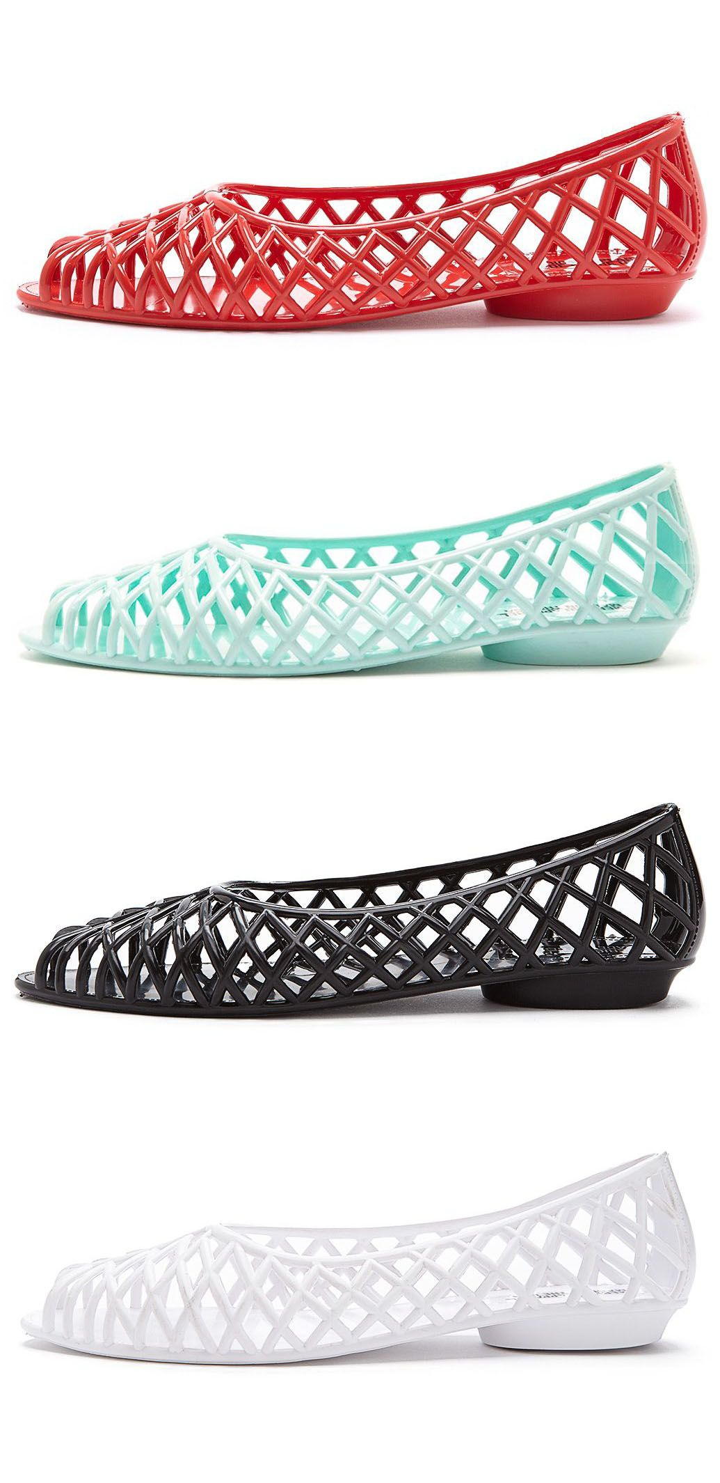 From american apparel flat lattice jelly sandal i had to think where to pin this on the