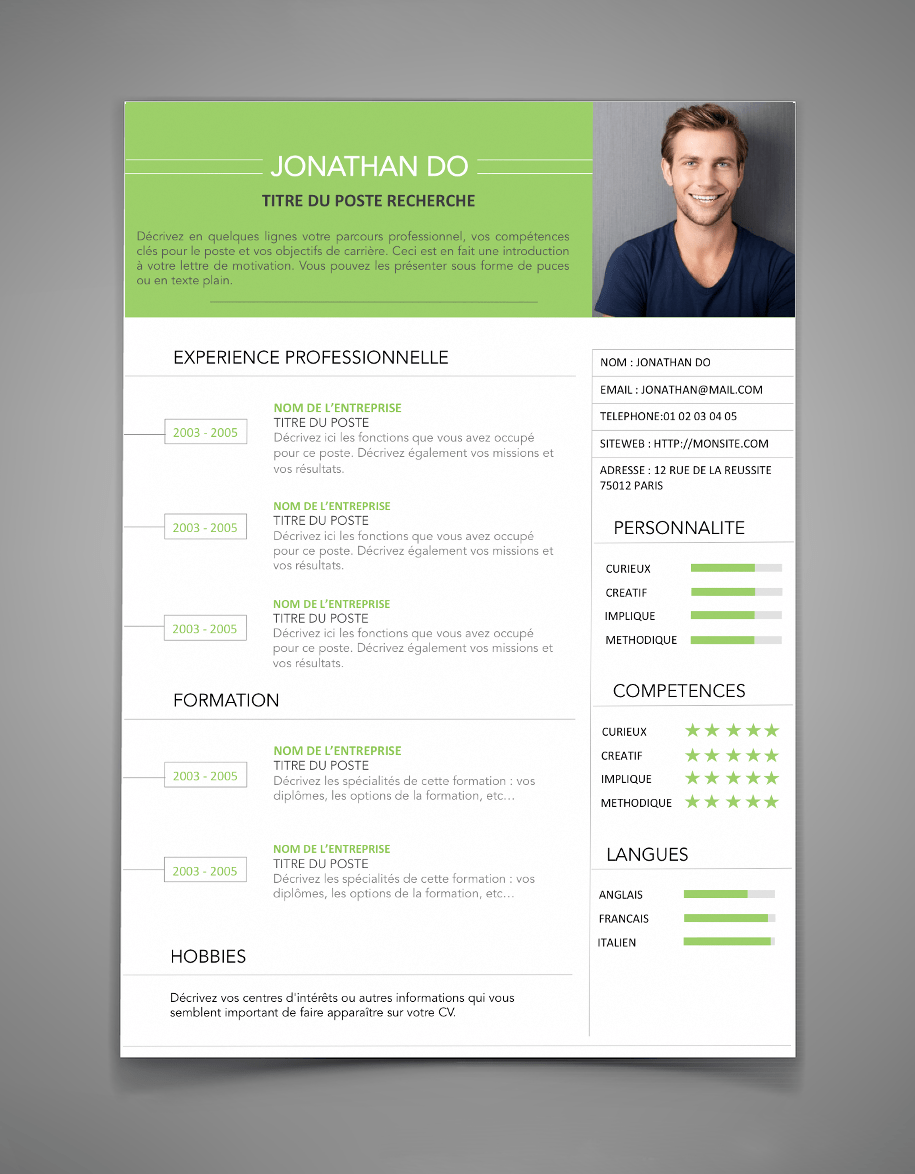 jolie cv informatique