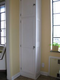 small broom closet | Modified our pretty display cabinets ...