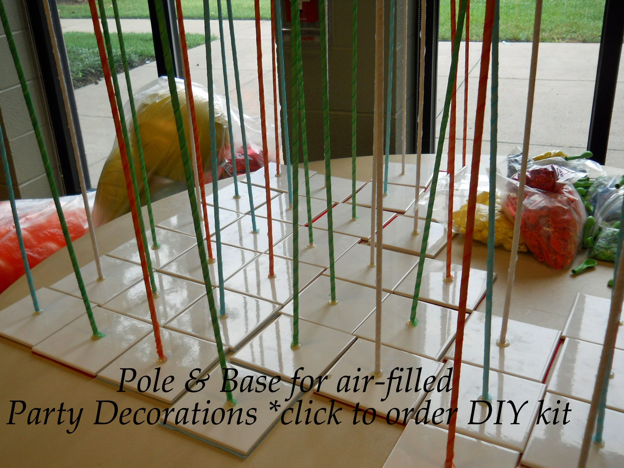 Click pin for diy pole and base kits to make balloon columns or balloon characters