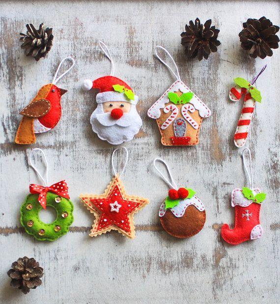 Stylish Design Felt Christmas Decorations Best 25 Ornaments Ideas - felt christmas decorations