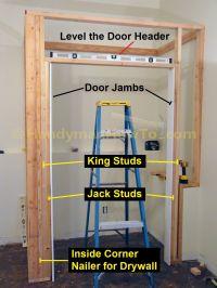 Basement Closet Door Rough Opening 2x4 Framing | DIY ...