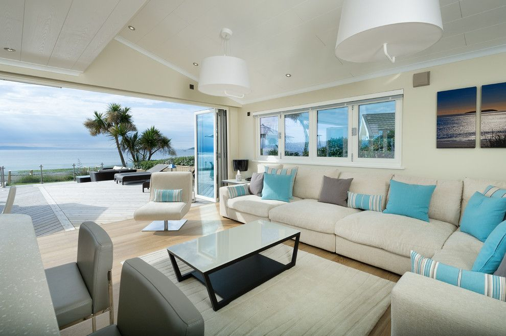 Beach house decorating living room beach style with corner sofa bi - beach style living room