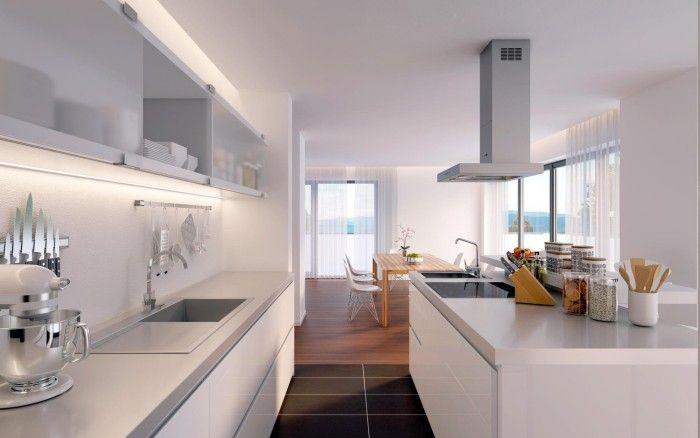 offene küche modern gestalten in mehrere zonen trennen Küche - moderne kuche gestalten