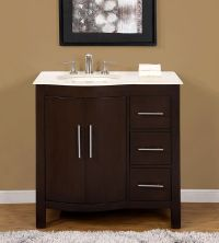 "36"" 0912cm - Marble Stone Top Single Bathroom Vanity ..."