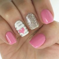 55 Super Easy Nail Designs | Glitter nail art, Glitter ...