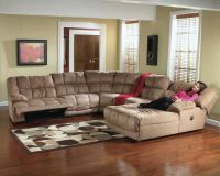 Microfiber Recliner Sectional