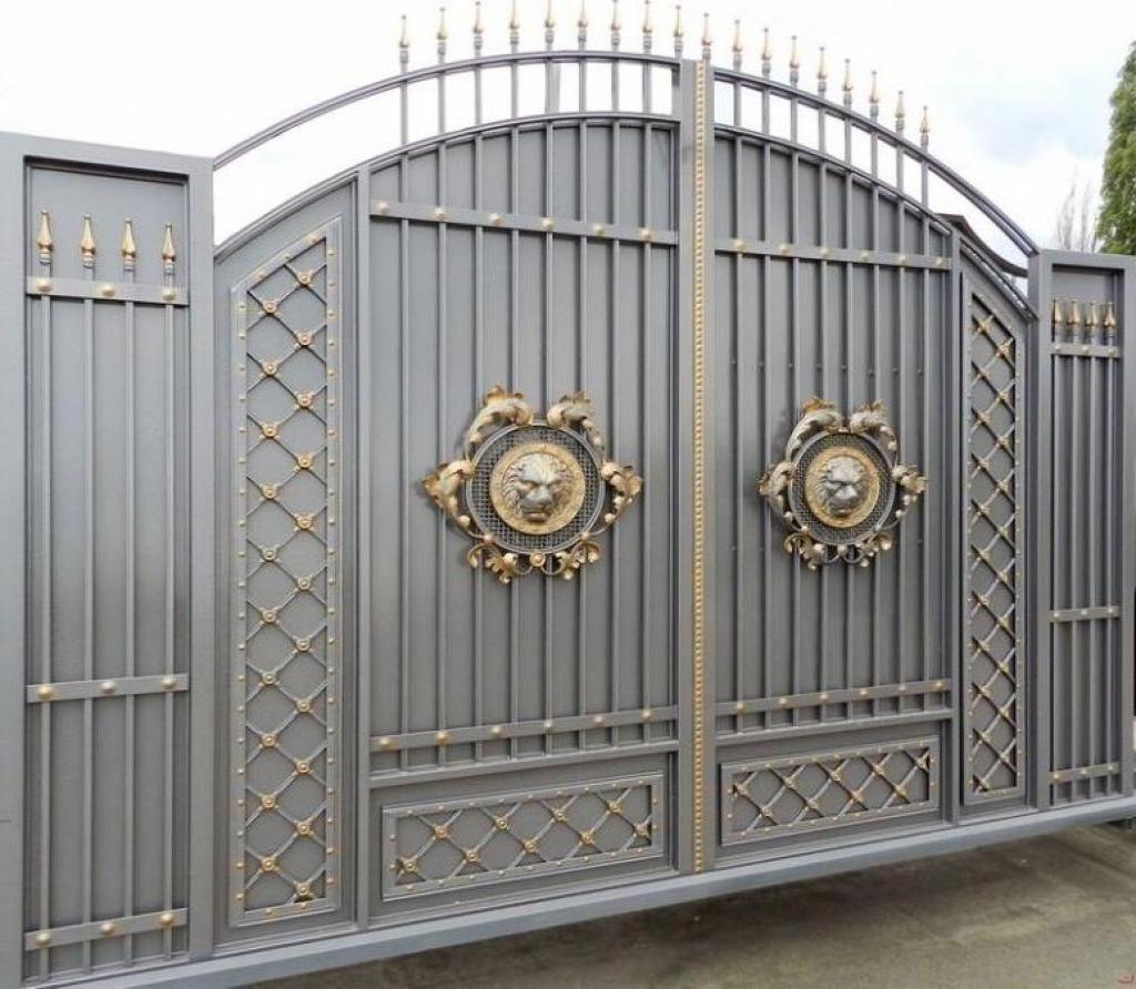 Stunning gray gold gate design ideas for modern home decor