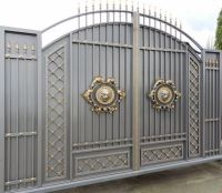 Stunning gray gold gate design ideas for modern home decor