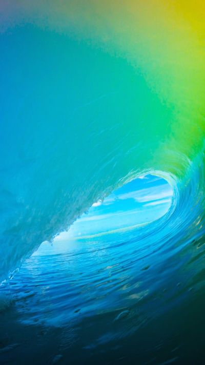 iOS 9 Colorful Surf Wave iPhone 6+ HD Wallpaper   iPhone ...